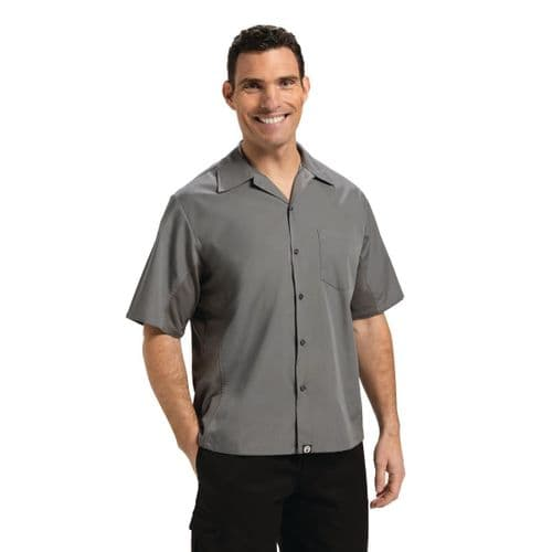 Chef Works Unisex Cool Vent Chef Shirt Grey 2XL